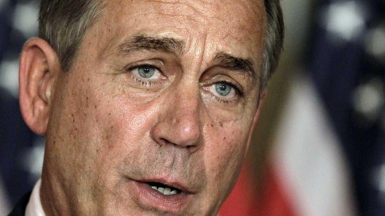 House Speaker John Boehner (R-Ohio) speaks at a