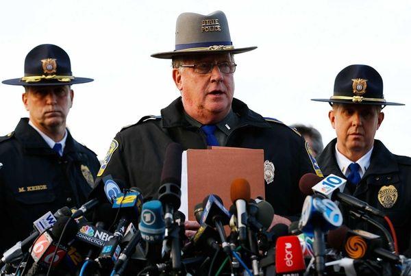 State Police spokesman Lt. J. Paul Vance briefs