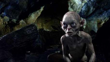 Gollum, voiced by Andy Serkis, in a scene
