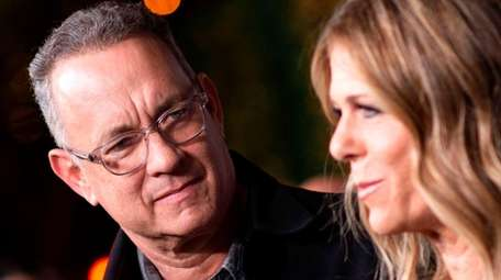 Tom Hanks and his wife Rita Wilson, pictured