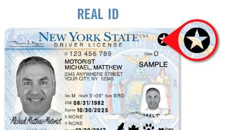 A sample of Enhanced, REAL ID.