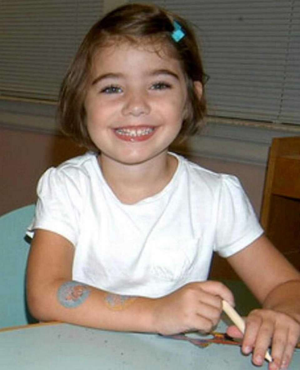 Caroline Previdi, 6, was among the 20 students