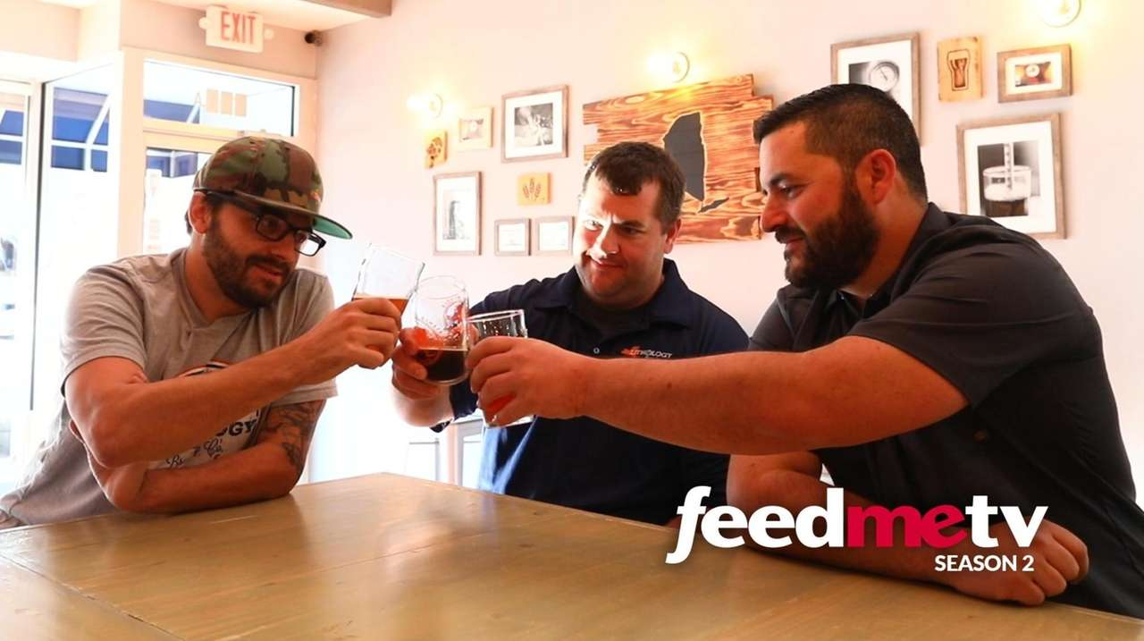 The three partners behind Lithology Brewing Co. in