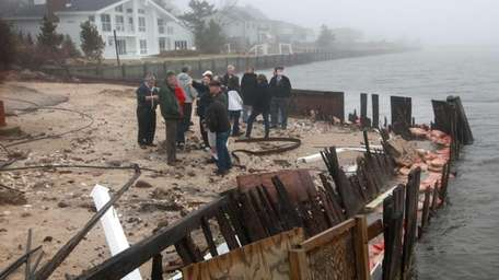 Members of the Grandview Beach Association gathered at