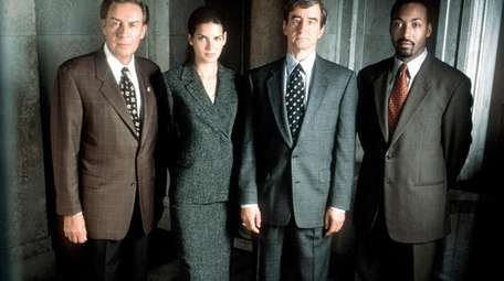 """The cast of """"Law & Order"""" in 1999:"""