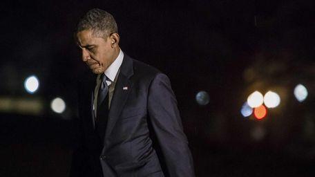U.S. President Barack Obama returns to the White