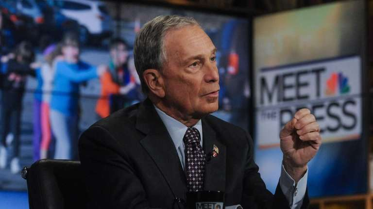 New York City Mayor Michael Bloomberg appears in