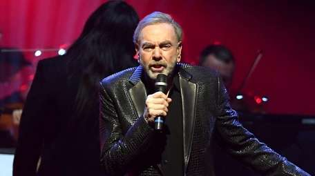 Neil Diamond performs onstage at the Keep Memory