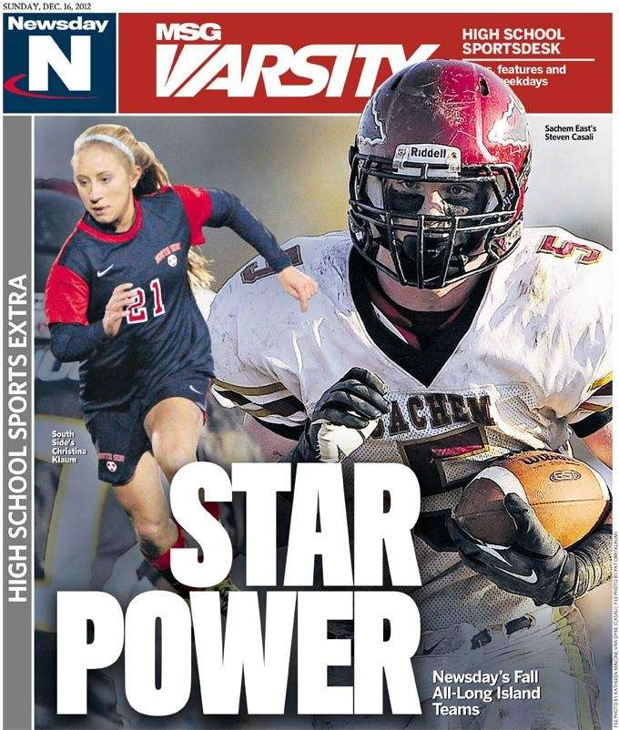 Newsday's Sunday high school sports section featured Sachem