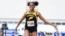 Alissa Braxton of Commack won the girls triple