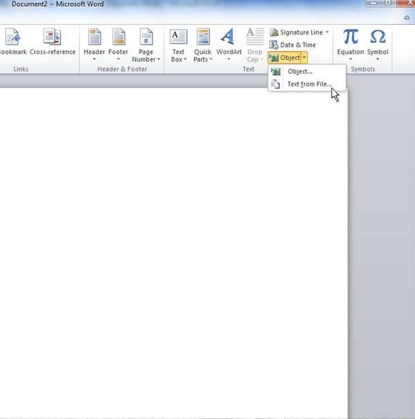 Screengrab from Microsoft Word shows the first step