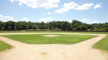 The baseball field at Kings Park High School