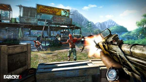 A screengrab from the video game Far Cry