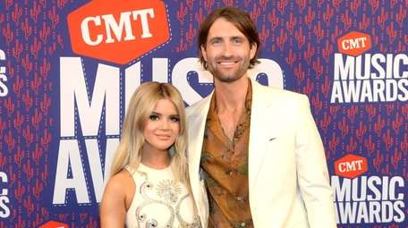 Maren Morris and Ryan Hurd attend the CMT