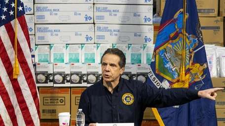 Gov. Andrew M. Cuomo speaks to reporters at