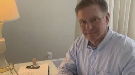 Peter Moloney works from home assisting families with