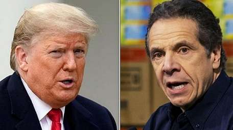 President Donald Trump and New York Governor Andrew