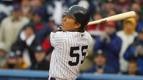 Yankees' Hideki Matsui hit a grand slam in