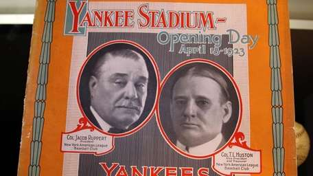 An souvenir program from the first Yankee Stadium
