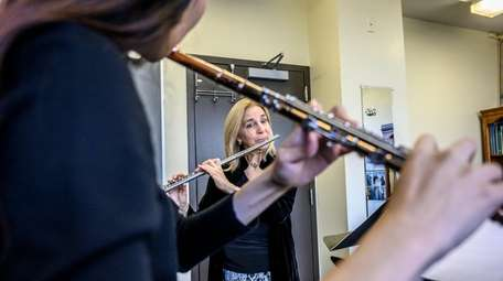 Flutist Carol Wincenc with her student Hae Jee