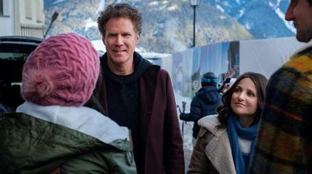 "Will Ferrell and Julia Louis-Dreyfus in ""Downhill."""