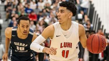 Andre Curbelo of Long Island Lutheran plays against