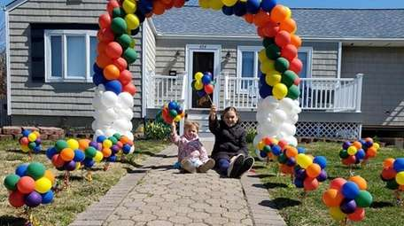Alivia Canedo, 9, and Kennedy Schmidt, 2, joined