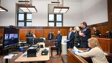 New York City prosecutors began videoconferencing arraignments, or