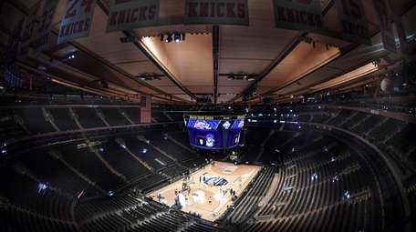 There were no fans at Madison Square Garden