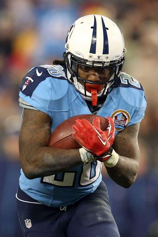 Running back Chris Johnson of the Tennessee Titans