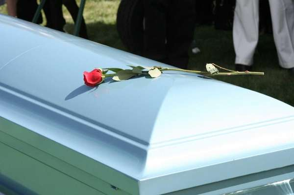 A casket.