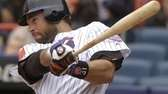 Mets catcher Mike Piazza hits a two-run homer