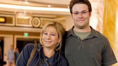 Barbra Streisand as Joyce Brewster and Seth Rogen