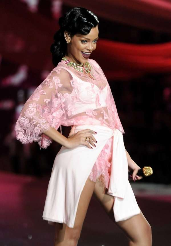 Rihanna during the 2012 Victoria's Secret Fashion Show