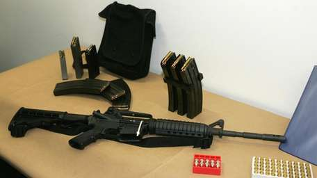 A Bushmaster AR-15 rifle, the weapon believed to