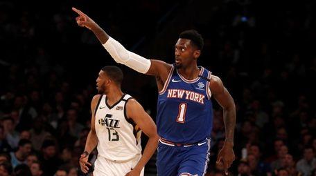 Bobby Portis #1 of the New York Knicks