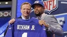 LSU wide receiver Odell Beckham Jr. poses with