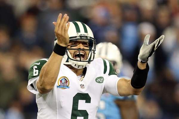 Quarterback Mark Sanchez of the New York Jets