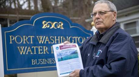 Port Washington Water District Superintendent Italo Vacchio said
