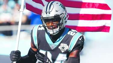 Panthers cornerback James Bradberry takes the field against