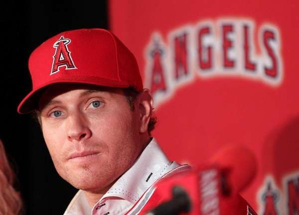 Josh Hamilton of the Los Angeles Angels at