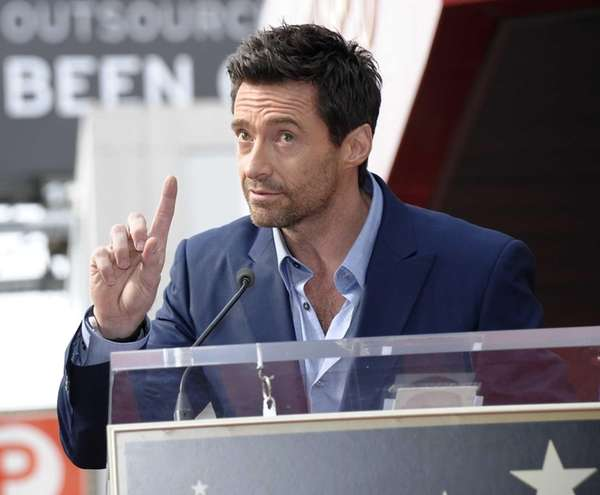 Hugh Jackman speaks at his star ceremony at