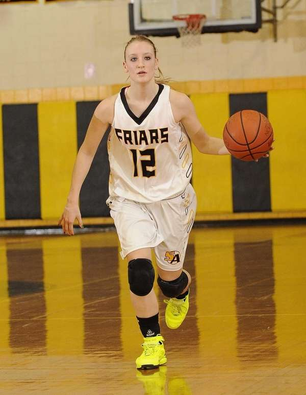 St. Anthony's guard Rebecca Musgrove controls the ball