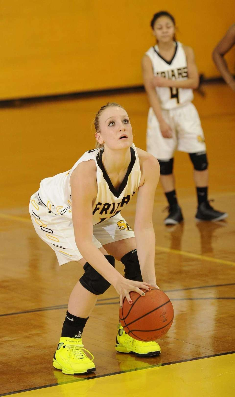 St. Anthony's guard Rebecca Musgrove prepares to take