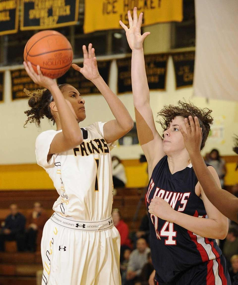 St. Anthony's guard Chastity Taylor shoots over St.