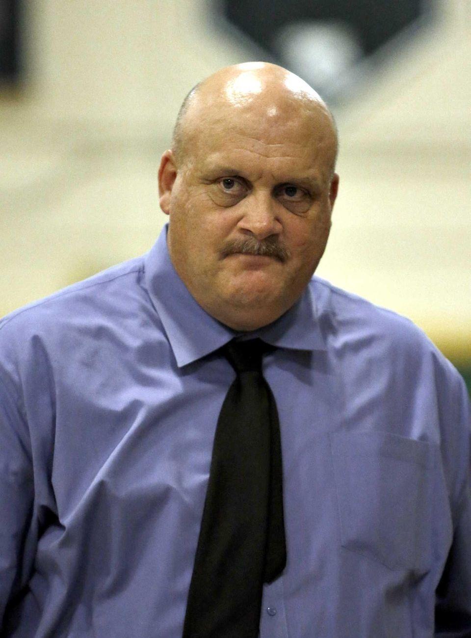 Central Islip boys varsity basketball head coach James