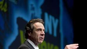 Gov. Andrew Cuomo speaks during a meeting announcing