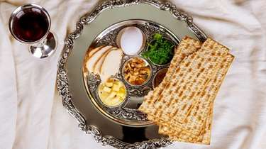 The Passover seder plate.
