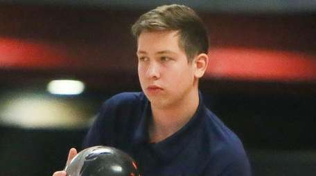 Smithtown's Kyle Perillo during a Suffolk boys bowling
