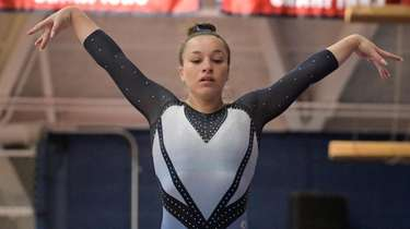 Skye Harper of Bay Shore/Islip performs her balance